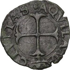 reverse: L Aquila.  Carlo VIII re di Francia (1495).. Cavallo