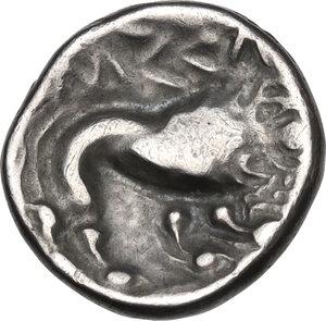 reverse: Southern Gaul, Insubres. AR Tetrobol, 1st century BC. Imitating Massalia
