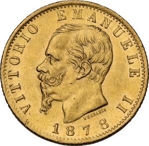 obverse: Vittorio Emanuele II  (1861-1878). 20 lire 1878 Roma