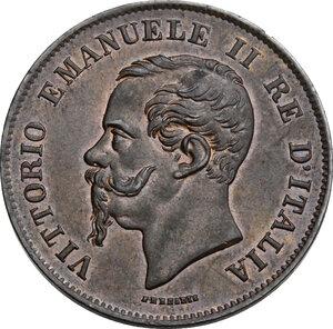 obverse: Vittorio Emanuele II  (1861-1878).. 5 centesimi 1861 Milano