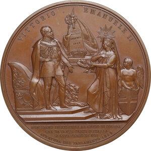 obverse: Vittorio Emanuele II  (1820-1878).. Medaglia 1859 per l apertura del Parlamento Italiano