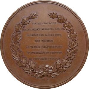 reverse: Vittorio Emanuele II  (1820-1878).. Medaglia 1859 per l apertura del Parlamento Italiano