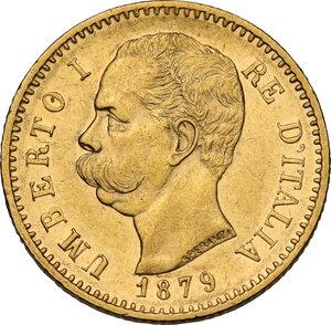 obverse: Umberto I (1878-1900).. 20 lire 1879