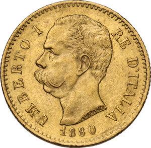 obverse: Umberto I (1878-1900). 20 lire 1880
