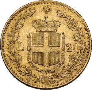 reverse: Umberto I (1878-1900). 20 lire 1880