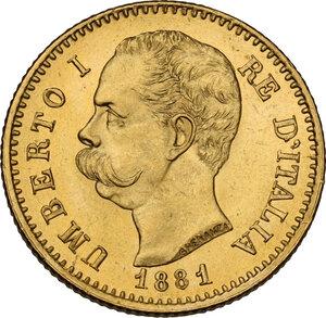 obverse: Umberto I (1878-1900).. 20 lire 1881