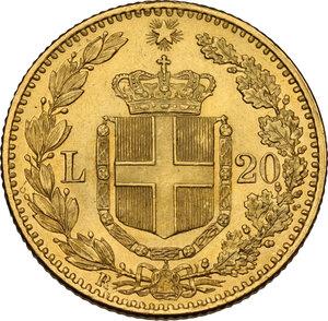 reverse: Umberto I (1878-1900).. 20 lire 1881
