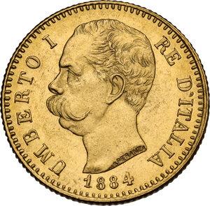 obverse: Umberto I (1878-1900).. 20 lire 1884