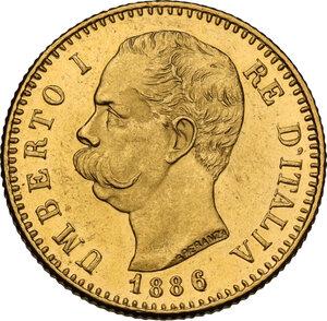 obverse: Umberto I (1878-1900).. 20 lire 1886