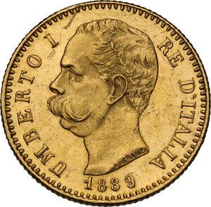 obverse: Umberto I (1878-1900). 20 lire 1889