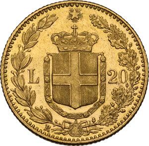 reverse: Umberto I (1878-1900). 20 lire 1889