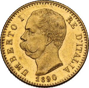 obverse: Umberto I (1878-1900). 20 lire 1890