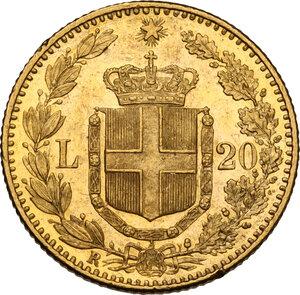 reverse: Umberto I (1878-1900). 20 lire 1890