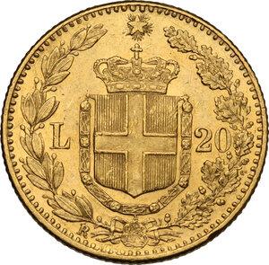 reverse: Umberto I (1878-1900). 20 lire 1891