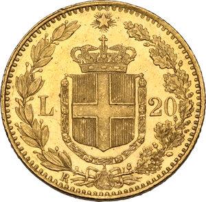 reverse: Umberto I (1878-1900).. 20 lire 1893