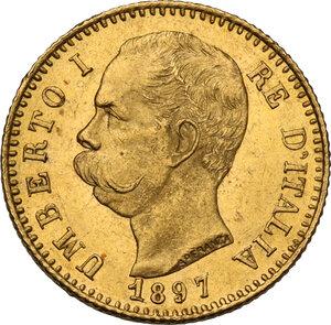 obverse: Umberto I (1878-1900). 20 lire 1897, oro rosso