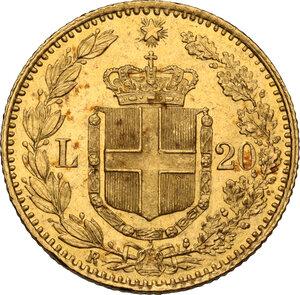 reverse: Umberto I (1878-1900). 20 lire 1897, oro rosso