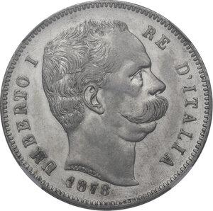 obverse: Umberto I (1878-1900). 5 lire 1878