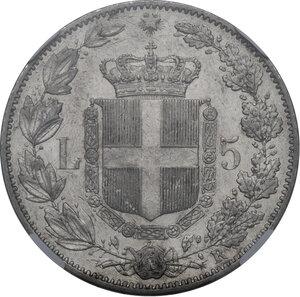reverse: Umberto I (1878-1900). 5 lire 1878