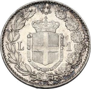 reverse: Umberto I (1878-1900). Lira 1887 Milano