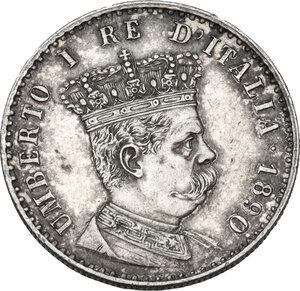 obverse: Umberto I (1890-1896).. 50 centesimi 1890
