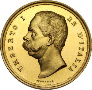 obverse: Umberto I (1878-1900).. Medaglia 1884 del Ministero dell Istruzione Pubblica per la Mostra didattica nell Esposizione Generale di Torino