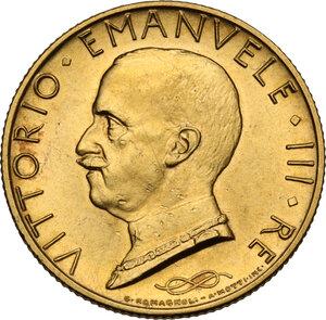 obverse: Vittorio Emanuele III (1900-1943). 100 lire 1931 A. IX
