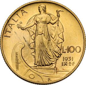 reverse: Vittorio Emanuele III (1900-1943). 100 lire 1931 A. IX
