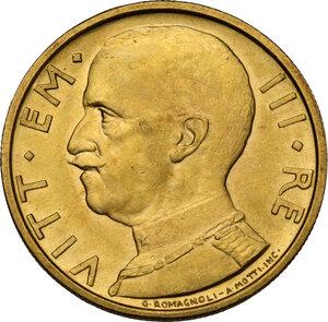 obverse: Vittorio Emanuele III (1900-1943). 50 lire 1932 A. X