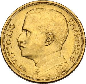 obverse: Vittorio Emanuele III (1900-1943). 20 lire 1912