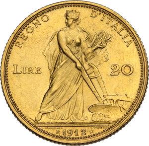 reverse: Vittorio Emanuele III (1900-1943). 20 lire 1912