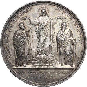 obverse: Pio IX  (1846-1878), Giovanni Mastai Ferretti.. Medaglia 1867 per il 18° Centenario del martirio dei SS. Pietro e Paolo