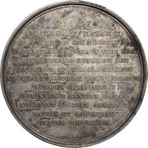 reverse: Pio IX  (1846-1878), Giovanni Mastai Ferretti.. Medaglia 1867 per il 18° Centenario del martirio dei SS. Pietro e Paolo