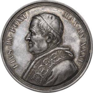 obverse: Pio IX  (1846-1878), Giovanni Mastai Ferretti.. Medaglia annuale, A. XXXI