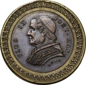 obverse: Pio IX  (1846-1878), Giovanni Mastai Ferretti. Medaglia bimetallica