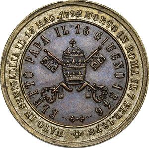 reverse: Pio IX  (1846-1878), Giovanni Mastai Ferretti. Medaglia bimetallica