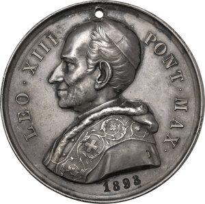 obverse: Leone XIII (1878-1903), Gioacchino Pecci. Medaglia premio dell Accademia Romana di San Tommaso d Aquino