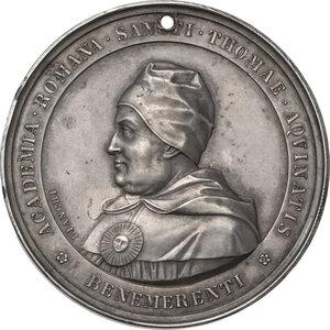 reverse: Leone XIII (1878-1903), Gioacchino Pecci. Medaglia premio dell Accademia Romana di San Tommaso d Aquino