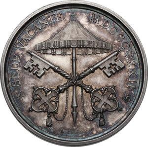 reverse: Sede Vacante (1922).. Medaglia 1922 emessa dal Camerlengo Cardinale Pietro Gasparri
