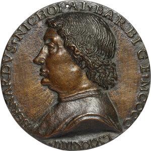 obverse: Bernardo del Barbigia  (XV sec.), illustre fiorentino.. Medaglia unifacie 1489