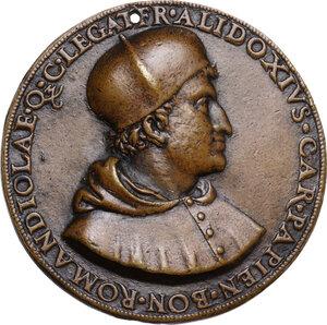 obverse: Francesco Alidosi (1455-1511) cardinale di Pavia (1505), legato di Bologna e della Romagna (1508). Medaglia per la nomina a Cardinale Legato di Bologna (1508)