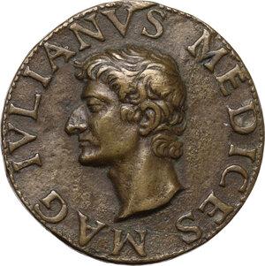 obverse: Giuliano II de Medici (1479-1516), Duca di Nemours . Medaglia (1513)