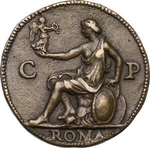 reverse: Giuliano II de Medici (1479-1516), Duca di Nemours . Medaglia (1513)