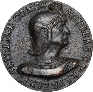 obverse: Andrea Carafa (1496-1526), Conte di Santa Severina.. Medaglia s.d. (inizi del XVI sec.)