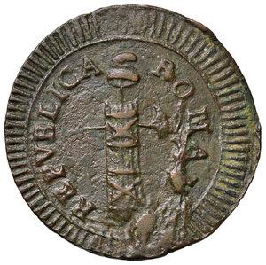 obverse: Ascoli. Repubblica Romana (1798-1799). Da 2 baiocchi AE gr. 13,30. Pagani 14b. Muntoni 28. Mazza pag. 94-95. Bruni 11. Rara. q.SPL/BB