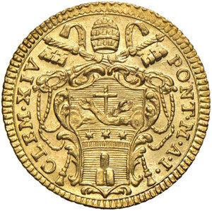 Roma. Clemente XIV (1769-1774). Zecchino 1769 anno I AV gr. 3,42. Muntoni 1. Berman 2928. Fondi lucenti, FDC
