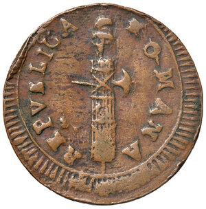 obverse: Ascoli. Repubblica Romana (1798-1799). Da 2 baiocchi AE gr. 14,04. Pagani –. Muntoni –. Mazza pag. 94-95. Bruni 11a. Molto rara. BB