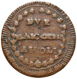 reverse: Ascoli. Repubblica Romana (1798-1799). Da 2 baiocchi AE gr. 14,04. Pagani –. Muntoni –. Mazza pag. 94-95. Bruni 11a. Molto rara. BB