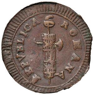 obverse: Ascoli. Repubblica Romana (1798-1799). Da 2 baiocchi AE gr. 16,27. Pagani –. Muntoni –. Mazza pag. 94-95. Bruni 11a. Molto rara. Buon BB