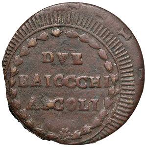 reverse: Ascoli. Repubblica Romana (1798-1799). Da 2 baiocchi AE gr. 16,27. Pagani –. Muntoni –. Mazza pag. 94-95. Bruni 11a. Molto rara. Buon BB